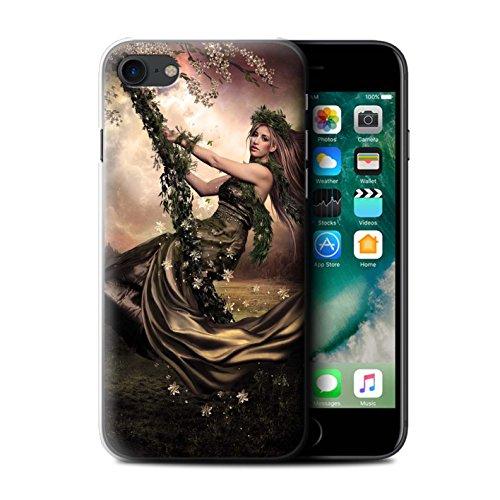 Officiel Elena Dudina Coque / Etui pour Apple iPhone 7 / Éclaboussure Rouge Design / Un avec la Nature Collection Balançoire Jardin