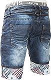 Jaylvis Short jeans bleu foncé à ceinture boxer Paper PZ1788__W33 FR42