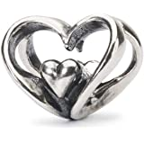 Trollbeads Argento Bead Cuore a Cuore
