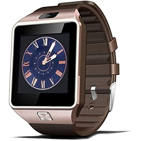 Inteligente Relojes Bluetooth DZ09 SmartWatch para Android teléfono de Apple Reloj Soporte Facebook Whatsapp SD SIM con la cámara de color oro