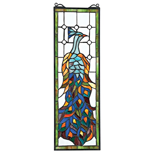 Tiffany Glasmalerei-panels (Buntglas-Panel - Pleasant Peacock Buntglas-Fenster Behang - Fensterbehandlungen)