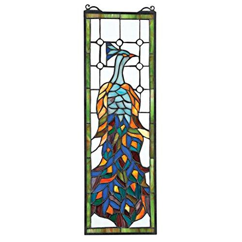 Glasmalerei-panels Tiffany (Buntglas-Panel - Pleasant Peacock Buntglas-Fenster Behang - Fensterbehandlungen)