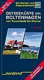 Ostseeküste um Boltenhagen von Travemünde bis Wismar: 1:35000, Wander- und Radwanderkarte. 2017-2020 (Deutsche Ostseeküste) - Peter Kast