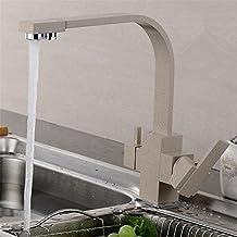 HomJo Osmosis inversa de tres vías mezclador de fregadero de 3 vías filtro de agua de grifo de latón de construcción negro tri grifo de cocina de flujo , 3