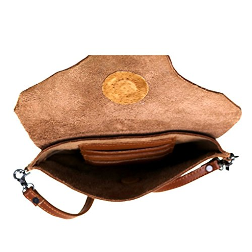 Montana West, Borsa a tracolla donna Coffee Concho & Flap