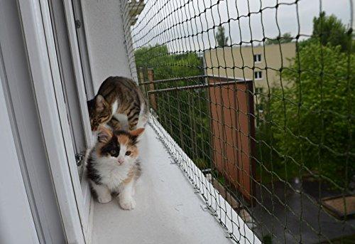 Bird-Tech rete balcone nero per i gatti e uccelli, 5x 5m + 50Fastnet + 1TUBO SILICONE 80ml.