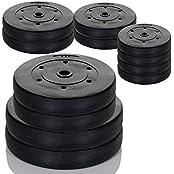 Hantelscheiben Gewichte -Auswahl aus 4 Krafttraining Sets - 4x5 kg / 2x10 kg / 2x10 2x5 kg oder 2 x 15 kg