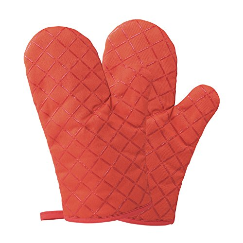 Works good, nice colour, comfortable gloves, actually its not hot to take anything what i make in the oven. Happy with my purchase.