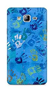 Amez designer printed 3d premium high quality back case cover for Samsung Galaxy ON7 (Handprint Art)