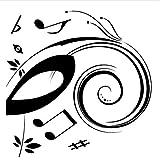 WHXJ Beat Note Musik Wandkunst Aufkleber, Vinyl Wandaufkleber Musik Dekor, Grafik Kunst Musical Home-Dekoration-Schwarz