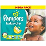 Pampers Baby Dry Nappies Size 5+ Mega Pack 70 per pack Case of 1