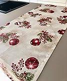 1KDreams Tischläufer 50x140 cm aus Baumwolle. Elegantes, modernes und raffiniertes Design. Tischläufer weihnachten. Made in Italy