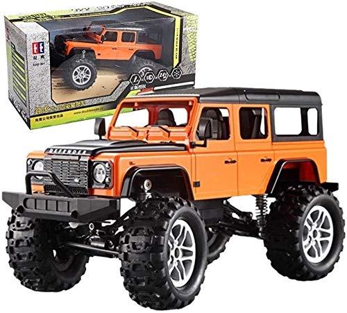 MECFIGH Simulation Elektrische High-Speed   Wireless Remote-Auto-Modell-Blitzen-Licht RC goß Auto 4WD Rock-Crawlers Fahren Auto Big Foot Auto Geländewagen pädagogisches Spielzeug (Color : Orange)