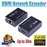 Microware 1080P HDMI Extender by CAT 5E/CAT 6 RJ45 Ethernet 30m (1080p) for PS3 HD-DVD STB HDTV