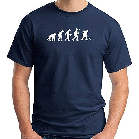 T-shirt EVO0039 Ice Hockey Evolution Humor Maglietta