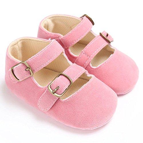 BZLine® Baby jungen Mädchen Krippe weiche Sohle Schuhe Sneakers Pink