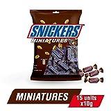 Snickers - Miniatures Schokoriegel Riegel Minischokolade Miniaturriegel Erdnuss Karamell Schokolade - 150g