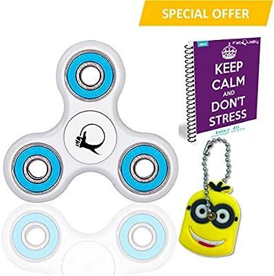 Primero Fidget Spinner ansiedad AttentionToy juguete con BONUS eBook (correo electrónico) + Minion clave de la cadena - perfecto para ADD, ADHD alivia el estrés, el autismo y la ansiedad y la relajación para niños y adultos BONUS EBOOK se envía por correo electrónico