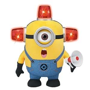 Moi, Moche et Méchant - Bee-Do - Minion Pompier - Peluche Parlante 19 cm