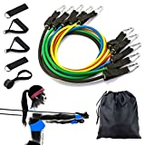 Resistance Bands Widerstandsband Set- Gymnastikband Trainingsbänder Fitnessbänder Expander Workout Bands Set für Ganz-KÃrper-Workout Yoga Pilates