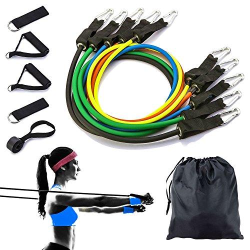 Resistenza Band set allenamento della forza attrezzature esercizio bande kit W/sacchetto di stoccaggio per uomo donna