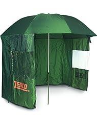 Zebco 9974252 Storm 220 - Sombrilla con cortavientos, color verde oliva
