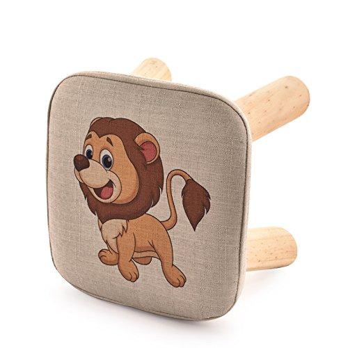 Dana Carrie En d'autres selles banc de chaussures sur une table basse tabouret bas en bois massif et tissus adultes enfants créatifs élégante petite chaise canapé rond est que la mise en œuvre du lion