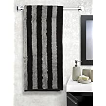 Turkish Bath 550 GSM Cotton Luxury Bath Towel Set (Grey and Black)