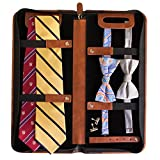 Astuccio Organizzatore per Cravatte da Viaggio in Eco Pelle - Organizzatore di 6 Cravatte di by Case Elegance