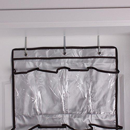 Kosmetik-schrank Der über Tür, (Sharplace 1 x 18 Fächer faltbar hängende Schuh Organizer waschbar über der Tür Stoffschrank)