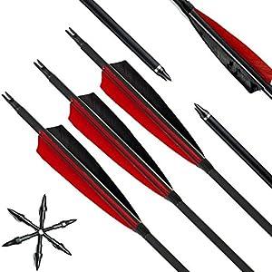 Narchery Pfeile für Bogenschießen, 31 Zoll Bogenpfeile Carbon Pfeile mit 5
