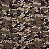 SCHÖNER LEBEN. Baumwolljersey Jersey Camouflage grün schwarz 1,5m Breite