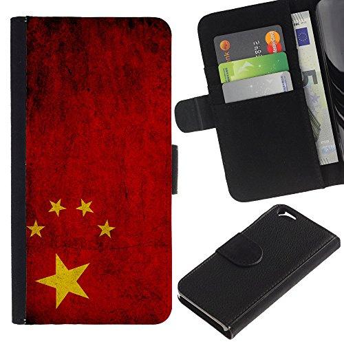Graphic4You Vintage Uralt Flagge Von Philippinen Philippinische Design Brieftasche Leder Hülle Case Schutzhülle für Apple iPhone 6 / 6S China Chinesisch
