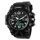 TTLIFE orologio da polso della di Men digitale orologio resistente all'acqua Guardare sportivi Allarme Cronometro (NERO)