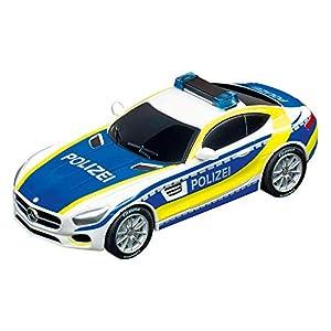Carrera Toys-GO Mercedes-AMG GT Coupé Police Coche Miniatura, Escala 1:43 (20064118)