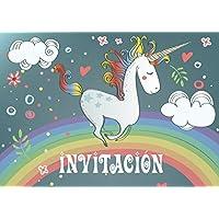 """Edition Colibri 10 Invitaciones en español """"Unicornio"""" (Jgo.1): Juego DE 10 Invitaciones tiernamente ilustradas con Unicornios para el Cumpleaños de Niñas (10754 ES)"""