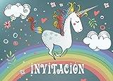 """10 Invitaciones """"UNICORNIO"""" (Jgo.1): Juego de 10 invitaciones tiernamente ilustradas con unicornios para el cumpleaños de niñas de EDITION COLIBRI (10754 ES)"""