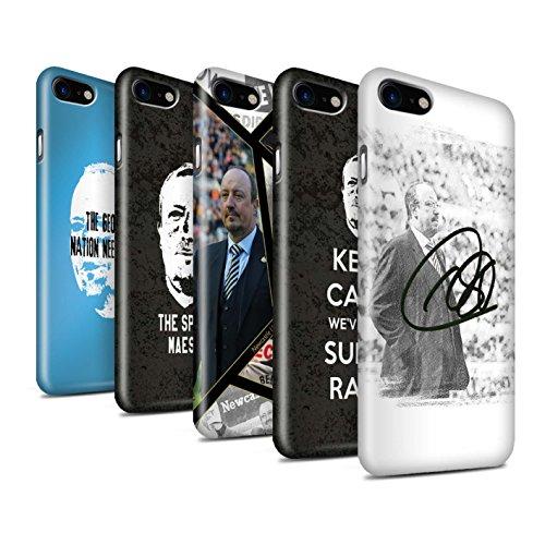 Officiel Newcastle United FC Coque / Clipser Brillant Etui pour Apple iPhone 7 / Bienvenue Design / NUFC Rafa Benítez Collection Pack 8pcs
