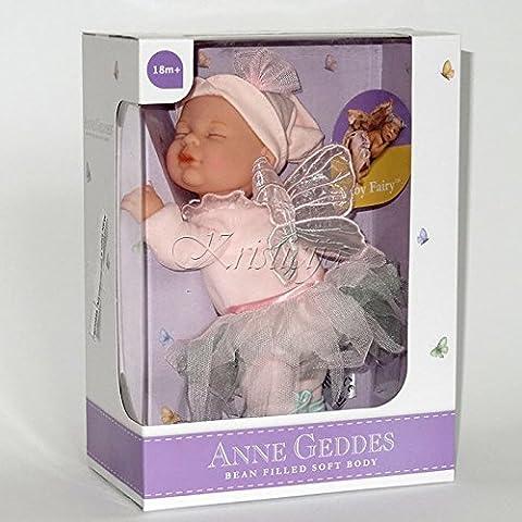 Anne Geddes Bébé - Anne Geddes Baby Pink Fairy Beanie Doll