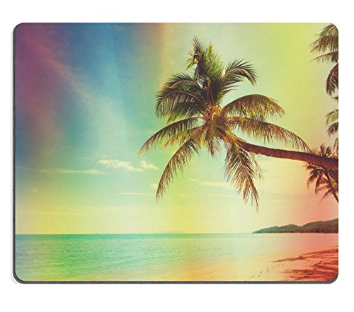 MSD Mousepad Image ID 27237803 Vintage stylized tropical beach with palm tree