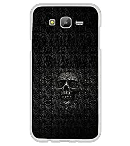 PrintVisa Pattern Scary Skull High Gloss Designer Back Case Cover for Samsung Galaxy E5 (2015) :: Samsung Galaxy E5 Duos :: Samsung Galaxy E5 E500F E500H E500HQ E500M E500F/DS E500H/DS E500M/DS