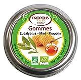 Gommes à l'eucalyptus bio, miel bio et propolis bio