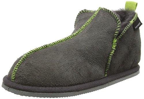 Shepherd Nice Slipper, Chaussons mixte enfant Grey (Asphalt Lime 62)