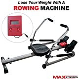 MAXSTRENGTH® Sprint Rower Hydraulic Scull Outrigger Rowing Machine Fitness Cardi 1-Year Warranty 18.9 Stone User Capacity 8 Levels
