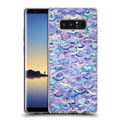 Offizielle Micklyn Le Feuvre Mosaik Und Amethyst Und Lapislazuli Marmor Muster Soft Gel Hülle für Samsung Galaxy Note8 / Note 8