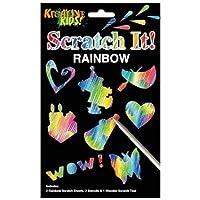 Rainbow Scratch Art Stencil Scraper Kit Kids Children Art Craft Activity Set Toy