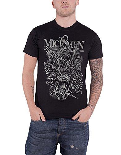 of Mice & Men T Shirt Eagle Band Logo Nue offiziell Herren