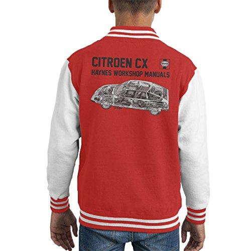 POD66 Haynes Workshop Manual 0528 Citroen CX Black Kid's Varsity Jacket