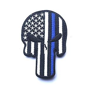 Aquiver Punisher Tête de mort tactique militaire Patch brodé armée Moral badge Brassard