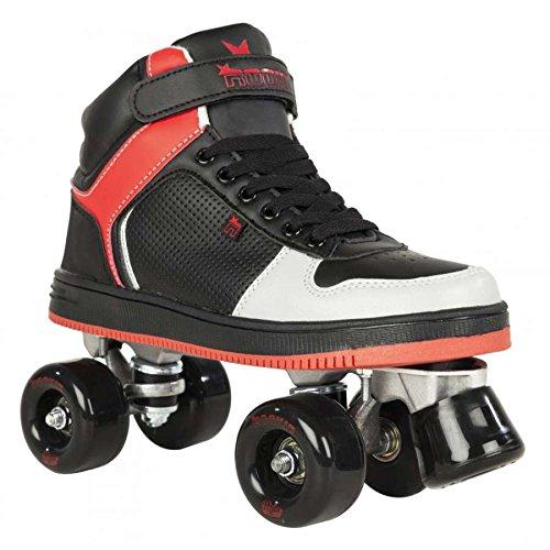 Rookie Hype Hi top Trainer, Rollschuhe Kinder, Kinder, Hype Hi Top Trainer, schwarz/rot
